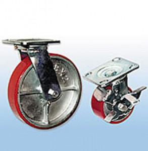 Колесные опоры большегрузные поворотные (полиуретан)