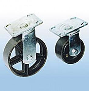 Колесные опоры большегрузные поворотные стальные
