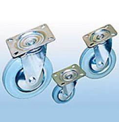 Колесные опоры поворотные промышленные (серая резина)
