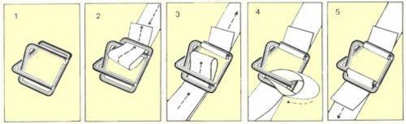 Пряжки для стягивания стреппинг-ленты